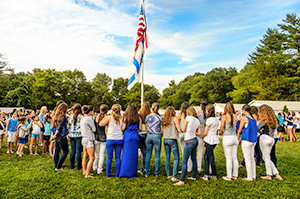 girls flag pole